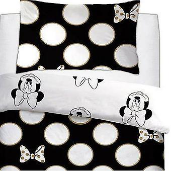 Minnie Mouse Gold Bows Duvet Set