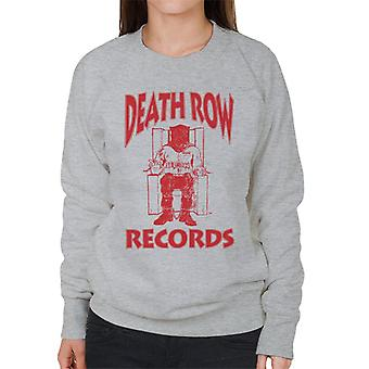 Death Row Records Chair Logo Red Women's Sweatshirt