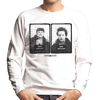 Home Alone Harry & Marv Mugshot Men's Sweatshirt