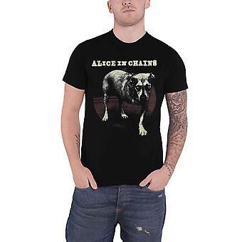 Alice In Chains T-paita Kolme Jalkainen Dog Band Logo uusi virallinen Miesten Musta