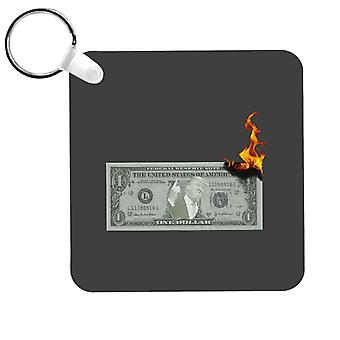 Coppia di dollari in fiamme Donald Trump USA Republican Keyring