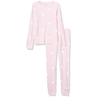 Essentials Girl's Peuter Thermal Long Underwear Set, Light Pink Heart...