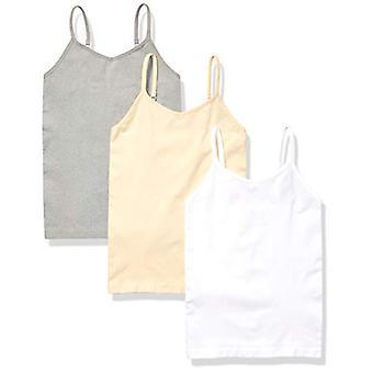 Essentials Girls-apos; 3-Pack Seamless Camisole, Blanc/Nude/Heather Grey, X...