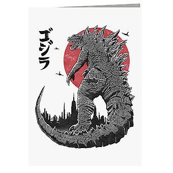 King Under The Sun Godzilla Greeting Card