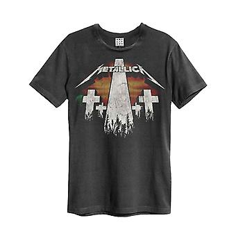 Metallica T Shirt Master Of Puppets new Official Mens Amplified Vintage Charcoal