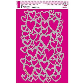 Pronty Crafts Hearts A4 Stencil