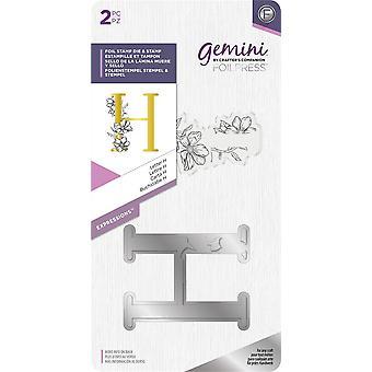 Gemini Letter H Expressions Foil Stamp Die & Stamp