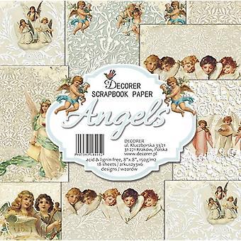 Decorer Angels 8x8 Tuuman Paper Pack