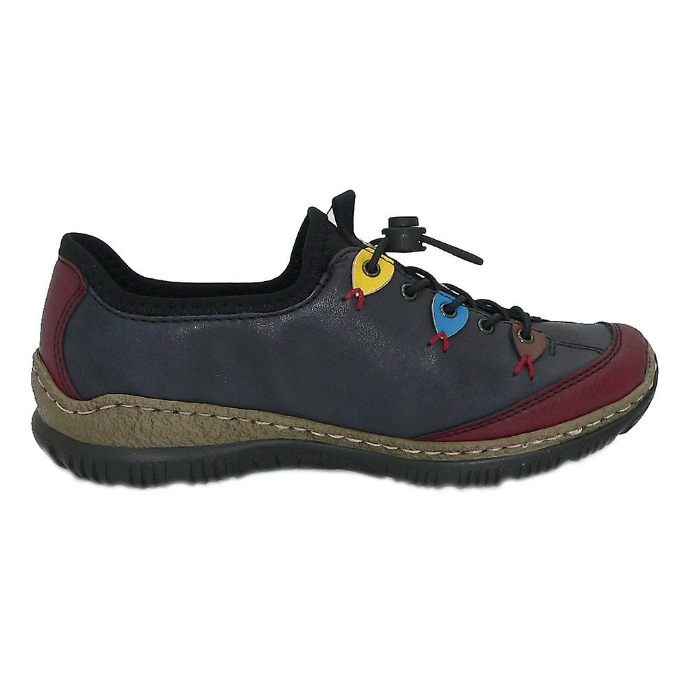 Rieker N3271-35 Nikita Slip On Toggle Trainers In Multi Colour