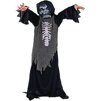 Zombie Skeleton Grusel Skelett Kinder Kostüm Halloween Skelettkostüm Zombiekostüm