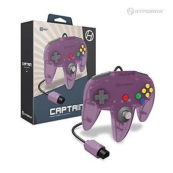 Nintendo 64 Captain Premium Controller For N64 (Ametyst Lilla) - Hyperkin