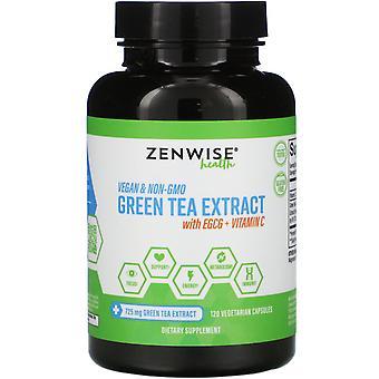 Zenwise Health, Extrait de thé vert avec EGCG + Vitamine C, 120 Capsules végétariennes