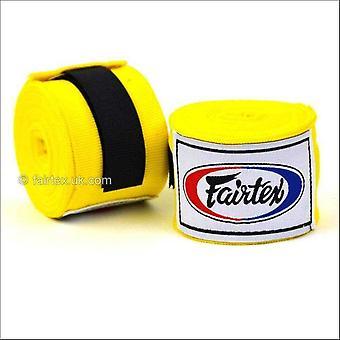 Fairtex hand wraps - 4.5m - yellow