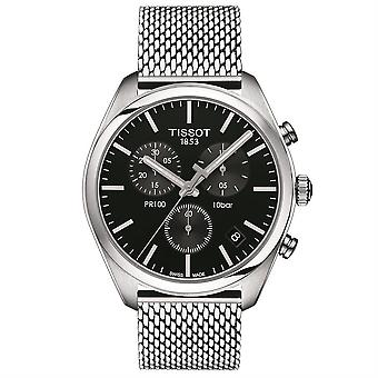 Tissot T101.417.11.051.01 PR100 Chronograph Black Dial Watch