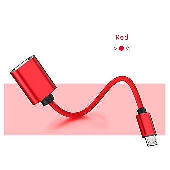 Type-c Male To  Female Adapter Type C Cable For Samsung S9 S10 Usbc Microusb Mirco For Charging Cable Adaptor Cord
