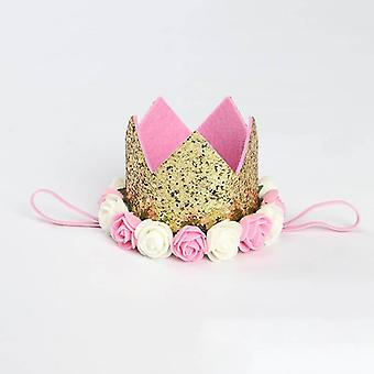 Happy Birthday Party Kapelusze, Decor Cap Princess Crown 1st/2nd/3rd Year Old Number