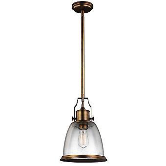 1 Lichte Medium Dome Plafond hanger Messing, E27