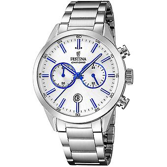 Festina chrono watch for Analog Quartz Men with stainless steel bracelet F16826/A