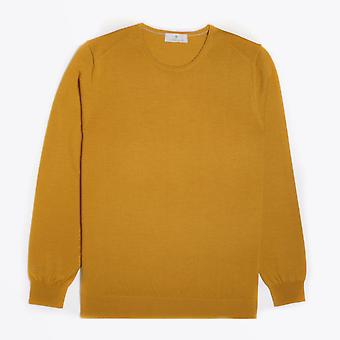 Thomas Maine  - Merino Crew Neck Knit Sweater - Yellow