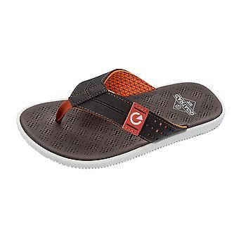 Mens Cartago Sandals Barcelona Thong Beach Flip Flops  - Brown