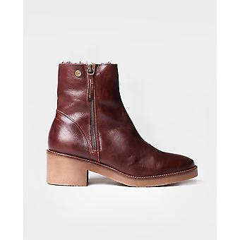 Toni Pons - Ankle boot for women made of brown leather - PRATO-POF