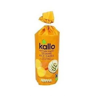 KALLO FOODS - Organic Rice Cakes With Sesame Sea Salt