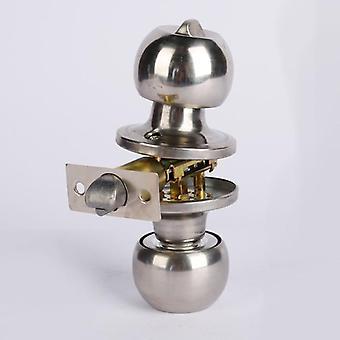 Ruostumattomasta teräksestä valmistettu pyöreä pallo oven nuppisarja, kahvalukko avaimella kylpyhuoneeseen
