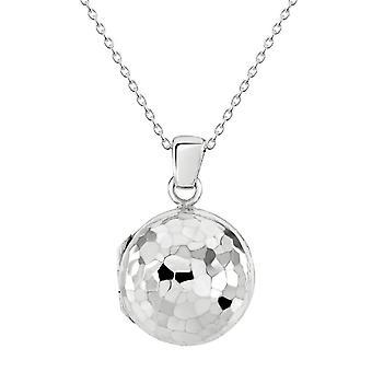 Dew sterling zilver disco bal gehamerd medaillon hanger 98985HP028