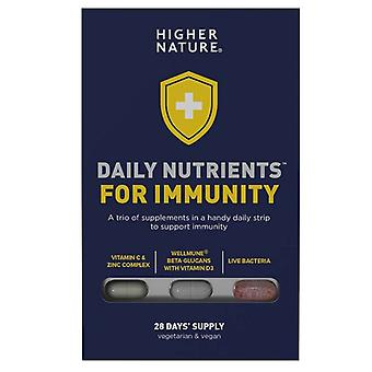 Higher Nature Daily Nutrients for Immunity Caps 28 (DNIM028)