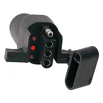 Hopkins 47325 Trailer Adapter 6 Way To 4 Wayflat w/Circuit Tester