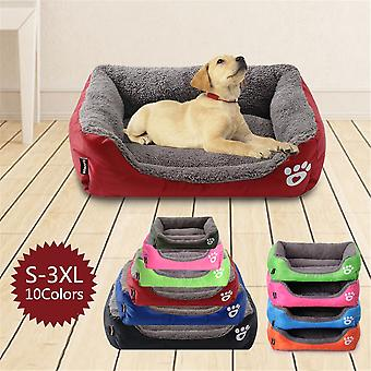 S-3XL mascota sofá cama impermeable fondo suave lana caliente gato cama grande tamaño mascota impermeable fondo 10 colores