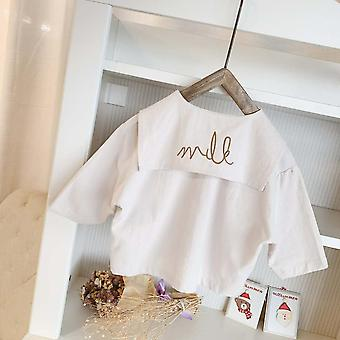 Girls Embroidery Big Lapel Clothing Shirt