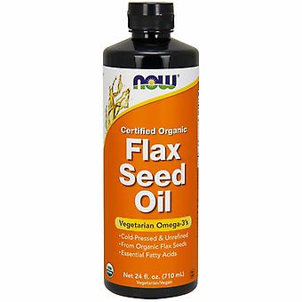 Now Foods Organic Flax Seed Oil, 24 oz