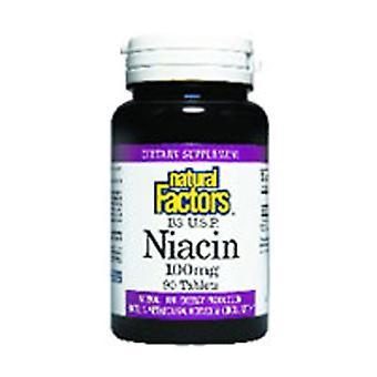 Luonnolliset tekijät Vitamiini B3 Niasiini, 100 mg, 90 Tabs
