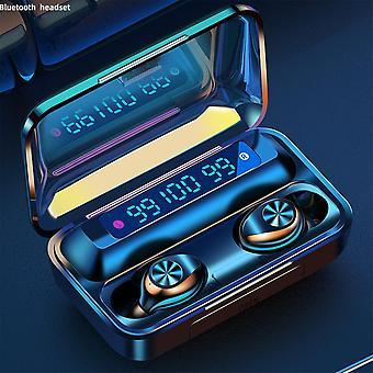 TWS bluetooth LED Digital Display Mini In Ear Earphone