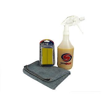 Autosmart car detailing kit wax detail spray 600ml 2 clay bars & microfibe cloth