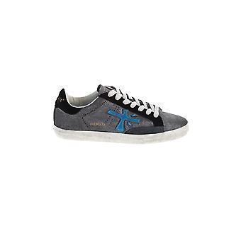 Premiata Stevend4862 Women's Grey Leather Sneakers