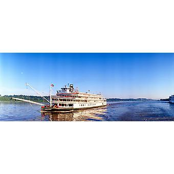 Delta Queen steamboat on Mississippi River Mississippi Poster Print