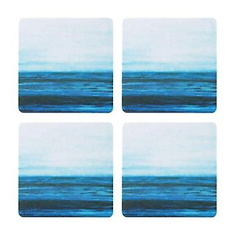 1 Art Design, 4x Coaster - Horizon 9 cm