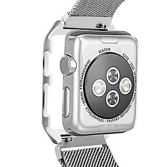 Strapsco milanese-mesh-armbånd-med-sag-beskytter-for-apple-watch