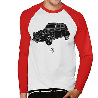 Citro�n 2CV Angle For Light Men's Baseball Long Sleeved T-Shirt
