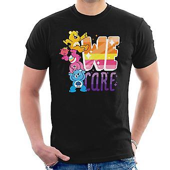 Care Bears Unlock The Magic We Care White Border Men's T-Shirt