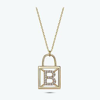 Bokstav B Guld halsband