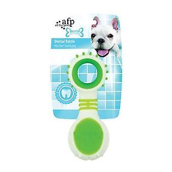 Dog Dental Rattle Teething Rubber Chew Flexible Rigid Clean Teeth Gum