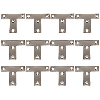 12 PCS 5x5 cm T Shaped Repair Plate Corner Brackets Joining Connector