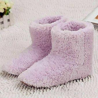 Inverno USB Sapato de pé quente sapato pelúcia chinelo elétrico quente pés aquecidos laváveis