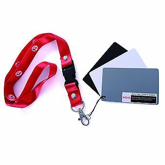 Movo photo color/white balance card set for digital photography (pocket-sized, 8.25 x 5cm)