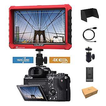 Lilliput a7s 7-inch 1920x1200 hd ips tela 500cd/m2 câmera field monitor 4k hdmi vídeo de saída de entrada