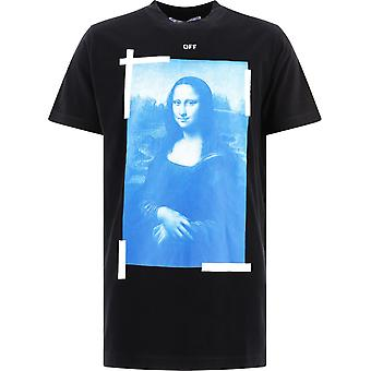 Off-white Omaa027r21jer0021001 Mænd's Black Cotton T-shirt