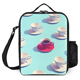 Pop Art Coffee Cups Printed Lunch Bags